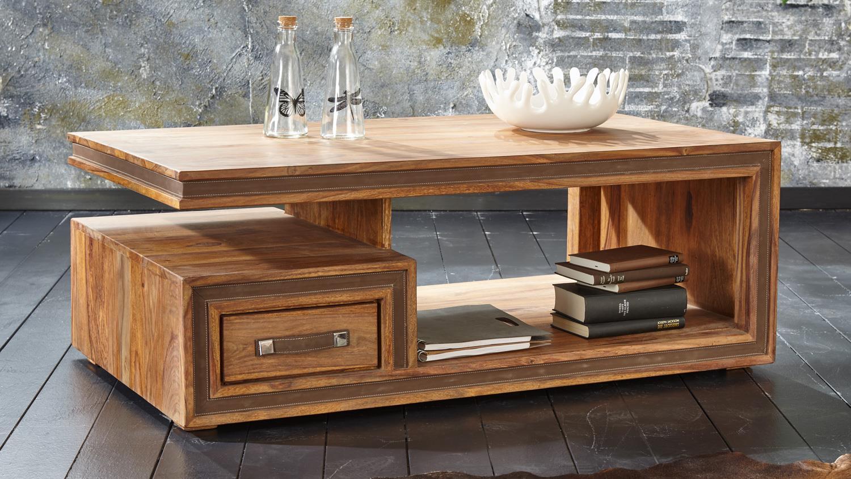 Couchtisch 120×70 SHAN 6325 Massivholz von Wolf Möbel
