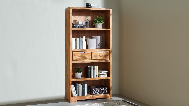 regal vision 2832 in acana akazie massiv von wolf m bel. Black Bedroom Furniture Sets. Home Design Ideas
