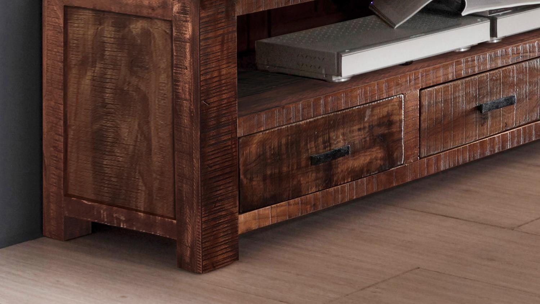 tv board guru 6618 lowboard in akazie massiv forest von wolf m bel. Black Bedroom Furniture Sets. Home Design Ideas