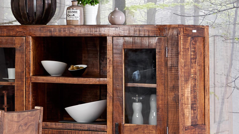 highboard guru 6627 2 t rig in akazie massiv forest von. Black Bedroom Furniture Sets. Home Design Ideas