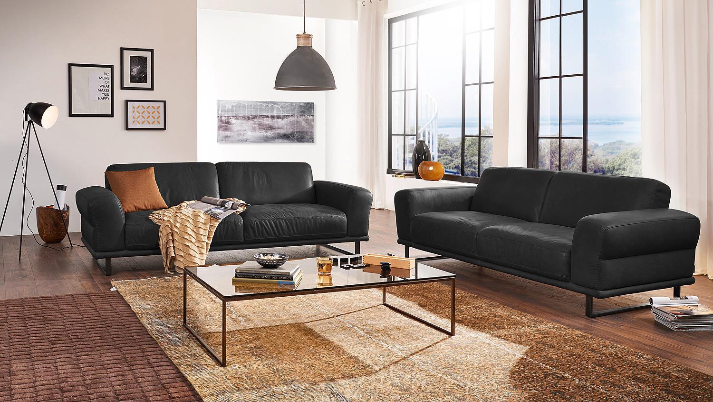 sofa montanaa 2 sitzer leder schwarz 232 cm willi schillig. Black Bedroom Furniture Sets. Home Design Ideas