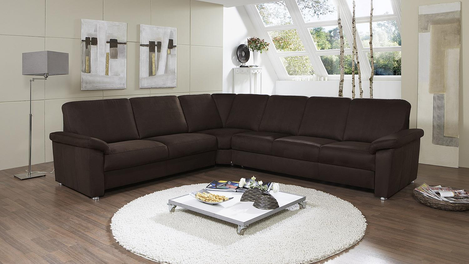Ecksofa triest sofa wohnlandschaft in nougat braun 240x298 for Ecksofa 240 x 160