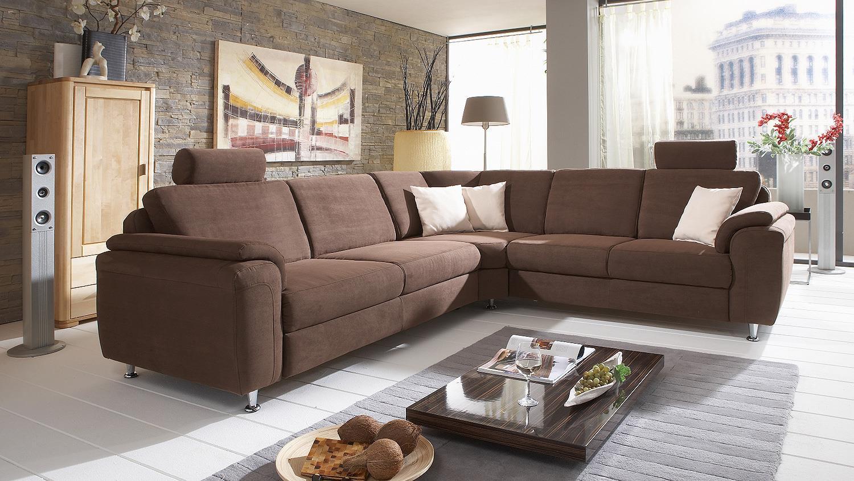 Ecksofa oxfort wohnlandschaft sofa stoff braun 276x246 for Ecksofa braun stoff