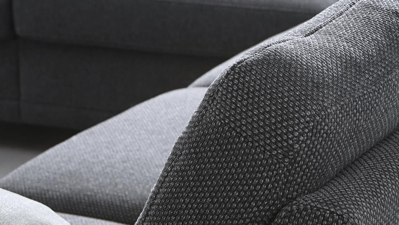 Wohnlandschaft Para Bezug In Stoff Grau Fusse Metall Mit Nosagfederung
