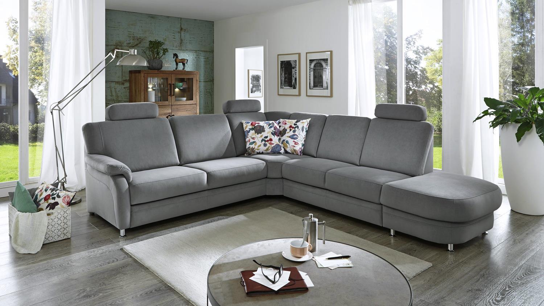 ecksofa toulouse bezug in stoff grau inkl federkern und nosagfederung. Black Bedroom Furniture Sets. Home Design Ideas