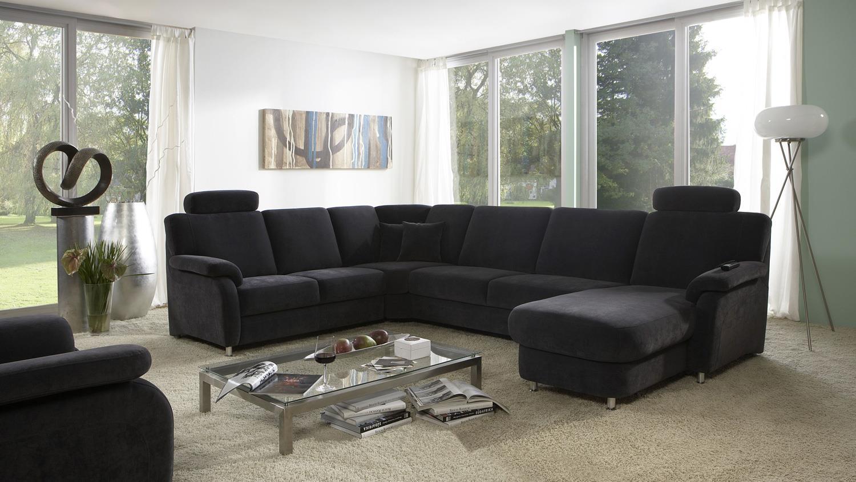 wohnlandschaft toulouse in stoff anthrazit federkern und nosagfederung. Black Bedroom Furniture Sets. Home Design Ideas