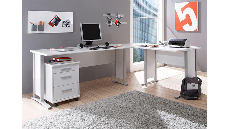 winkelschreibtisch office line biz in wei. Black Bedroom Furniture Sets. Home Design Ideas