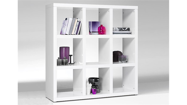 regal tonic b cherregal in wei hochglanz lackiert 9 f cher. Black Bedroom Furniture Sets. Home Design Ideas