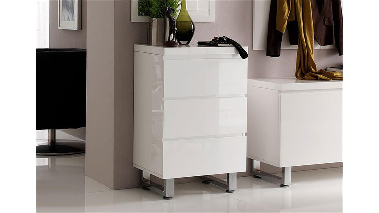 kommode sydney iii schrank in wei hochglanz lackiert. Black Bedroom Furniture Sets. Home Design Ideas