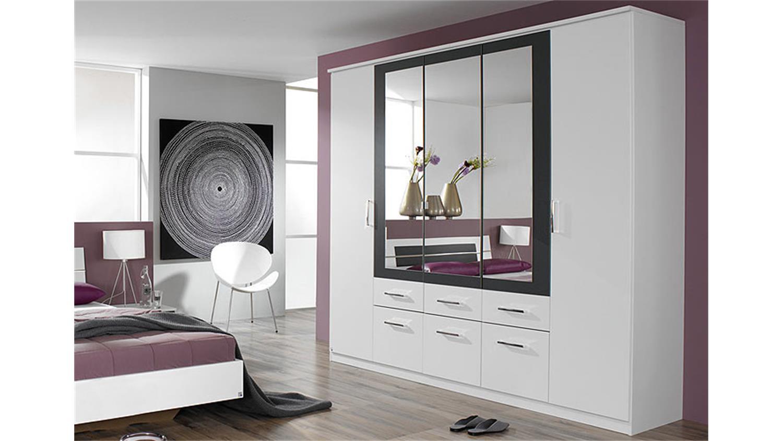 kleiderschrank burano in wei und grau metallic 226 cm. Black Bedroom Furniture Sets. Home Design Ideas