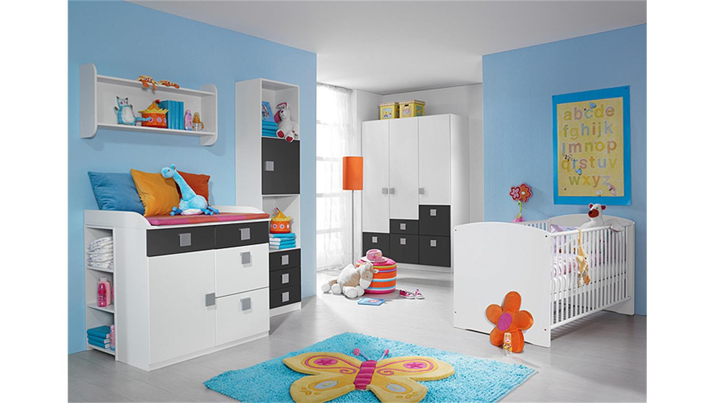 babyzimmer iii skate 3 teilig in alpinwei und grau metallic. Black Bedroom Furniture Sets. Home Design Ideas