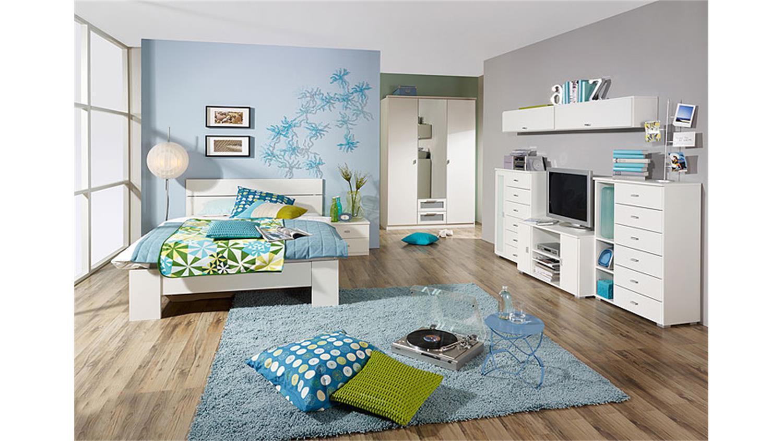 Jugendzimmer set chica schlafzimmer in alpinwei 3 teilig - Jugendzimmer set angebote ...