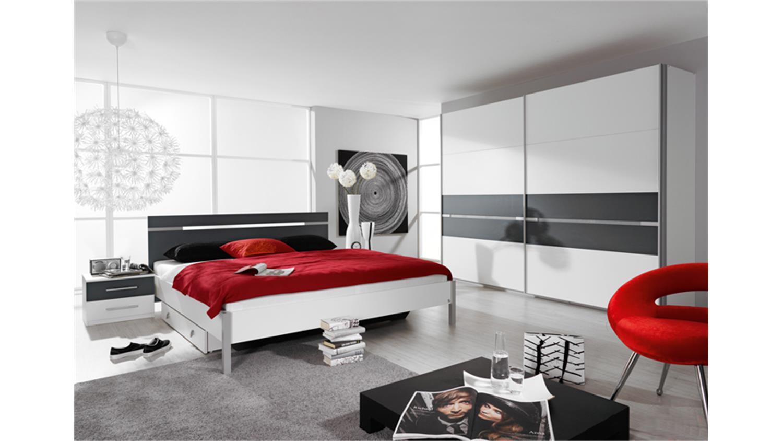ronco schlafzimmer in weiß dekor und grau