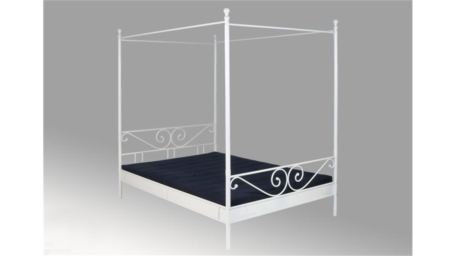 himmelbett cardo i bett in schwarz liegefl che 140x200 cm. Black Bedroom Furniture Sets. Home Design Ideas