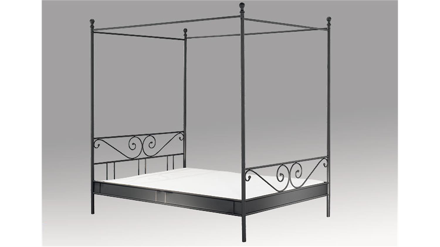 himmelbett cardo bett in wei liegefl che 140x200 cm. Black Bedroom Furniture Sets. Home Design Ideas