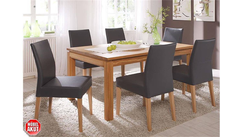rom esstisch eiche ge lt 160 cm ausziehbar. Black Bedroom Furniture Sets. Home Design Ideas