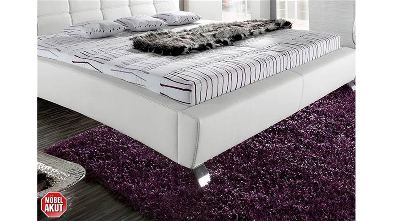 polsterbett kristin wei mit kopfteil 180x200 cm. Black Bedroom Furniture Sets. Home Design Ideas