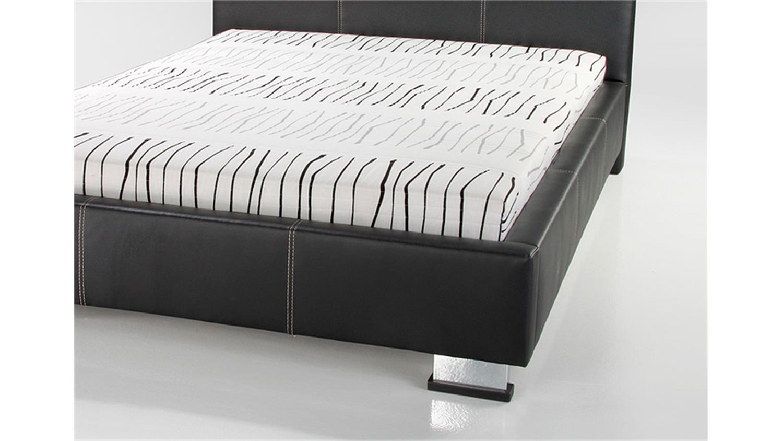 polsterbett landro in schwarz mit rollrost und matratze. Black Bedroom Furniture Sets. Home Design Ideas
