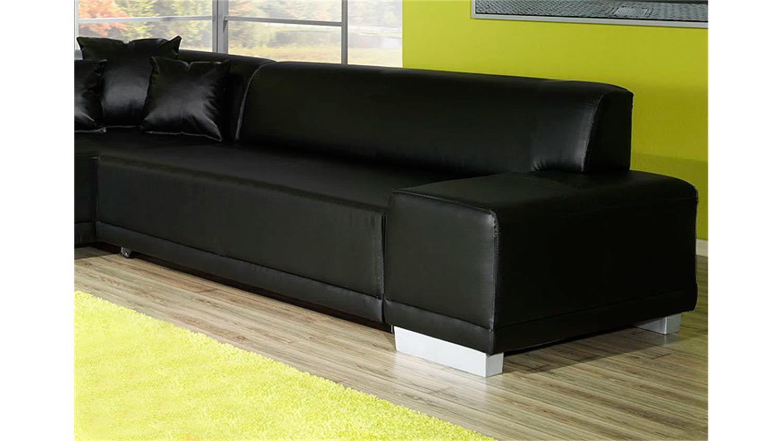 ecksofa peter mit ottomane links schwarz lounge funktion. Black Bedroom Furniture Sets. Home Design Ideas