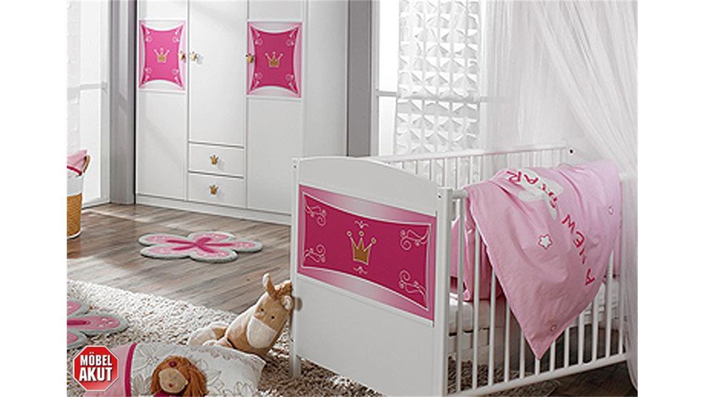 KATE Kinderzimmer in Weiß und Rosa 3-teilig