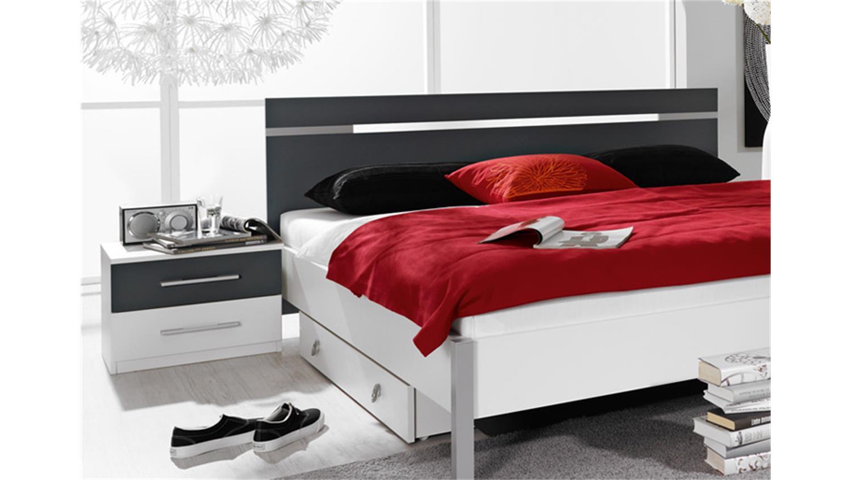 schlafzimmerset ronco schlafzimmer in wei dekor und grau. Black Bedroom Furniture Sets. Home Design Ideas