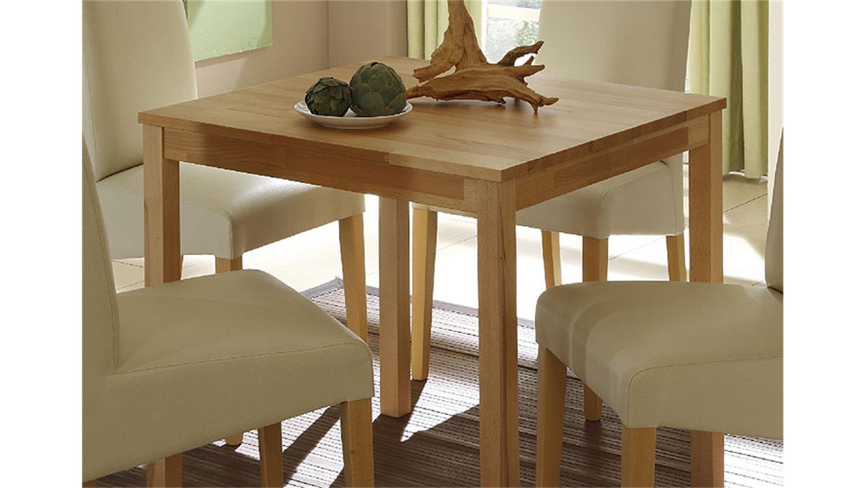 esstisch paula tisch in kernbuche massiv lackiert 75x75 cm. Black Bedroom Furniture Sets. Home Design Ideas