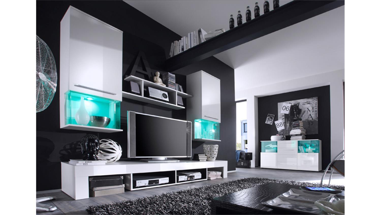 sideboard punch kommode anrichte schrank in wei glanz. Black Bedroom Furniture Sets. Home Design Ideas