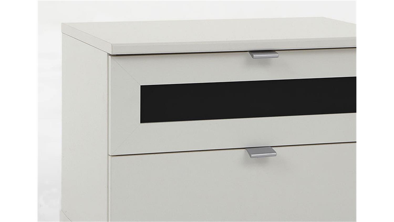 nachtschrank bombo nachtkonsole wei und schwarz 52x40x38. Black Bedroom Furniture Sets. Home Design Ideas