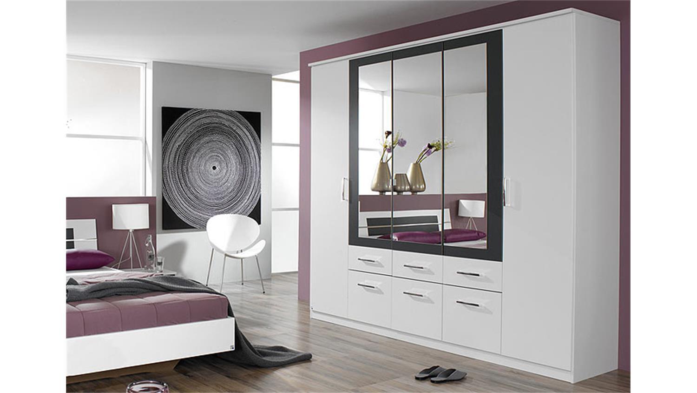 schlafzimmer set burano in wei und grau metallic 4 teilig. Black Bedroom Furniture Sets. Home Design Ideas