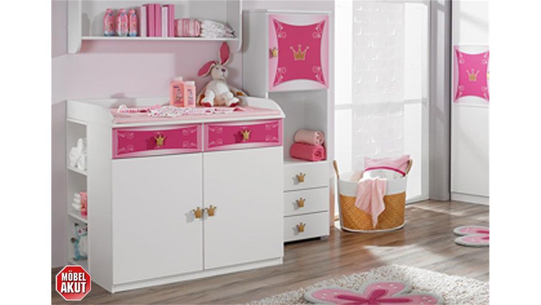 babyzimmer kate kinderzimmer in wei und rosa 3 teilig. Black Bedroom Furniture Sets. Home Design Ideas