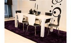 Esstisch TWIST Tisch in weiß Hochglanz Größe 200x100 cm