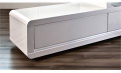 TV Board Eran Lowboard in weiß Hochglanz lackiert mit LED Beleuchtung