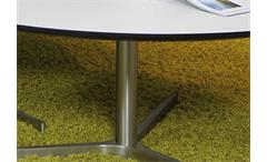 Couchtisch Plector 103x95cm Wohnzimmer Tisch Platte Laminat weiß Metallgestell