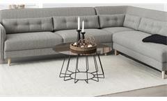 Couchtisch Casia Glas goldfarbig und Metall Chrom Wohnzimmer Tisch Beistelltisch