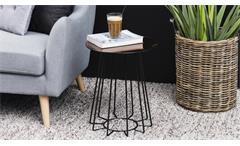 Beistelltisch Casia Glas goldfarbig und Metall schwarz Wohnzimmer Tisch
