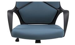 Bürostuhl Dubnium Drehstuhl petrol und Nylon schwarz Schreibtischstuhl