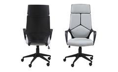 Bürostuhl Dubnium Drehstuhl hellgrau und Nylon schwarz Schreibtischstuhl