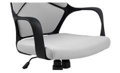 Bürostuhl Dubnium hellgrau und Nylon schwarz Drehstuhl Schreibtischstuhl