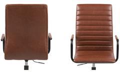 Bürostuhl Winslow Drehstuhl in Lederlook Vintage cognac Metall Schreibtischstuhl