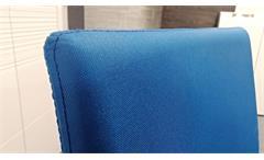 Stapelstuhl Esszimmerstuhl Küchenstuhl Piana 4-er Set Stuhl stapelbar Stoff blau