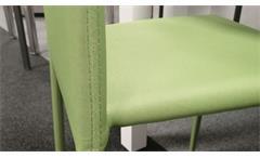 Stapelstuhl Küchenstuhl Esszimmerstuhl Piana Stuhl stapelbar 4-er Set Stoff grün