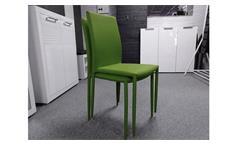 Stapelstuhl PIANA 4er Set Esszimmerstuhl Küchenstuhl Stoff grün