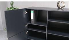 Highboard Obvious Kommode schwarz graphit Metallgestell Wohnzimmer Flur 4-türig