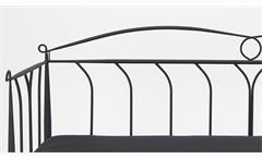 Metallbett Line schwarz 90x200 cm Tagesbett Romantisches Design