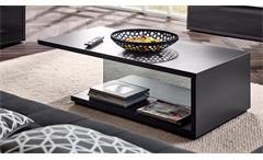 Couchtisch Gamble Wohnzimmertisch Beistelltisch Tisch in anthrazit mit Glas 120