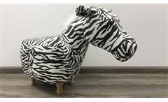 Tierhocker Zebra Kinderhocker schwarz weiß Holz natur Sitzhocker Kinderzimmer
