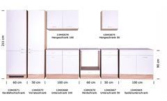Küchen Unterschrank Max 50 cm Eiche Sonoma Front weiß Anstellprogramm
