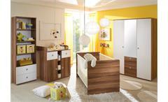 Babyzimmer Wiki 4-teilig in Walnuss und weiß