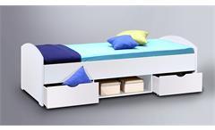 Jugendbett Nemo Kinderbett Liege mit Schubkasten weiß 90x200