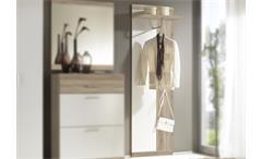 Wandpaneel Imperial 2 Garderobe Eiche sonoma sägerau und weiß inkl. Hutablage